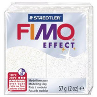 Steadtler FIMO Soft Effect Polymer Clay 57g Glitter White
