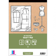 ART SPECTRUM KRAFT PAD A4  - 80gsm - 50 sheets