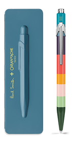 849 PAUL SMITH Ballpoint pen with slim case PETROL BLUE - Limited Edition | 849.506