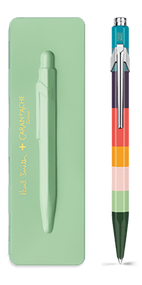 849 PAUL SMITH Ballpoint pen with slim case PISTACHIO GREEN - Limited Edition | 849.721