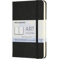 MOLESKINE ART WATERCOLOUR POCKET NOTEBOOK BLACK 9X14CM 60PAGES