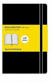 MOLESKINE SQUARED NOTEBOOK, SQUARED, POCKET, 192 PAGES, SOFT BLACK