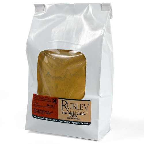 Rublev Colours Dry Pigments 100g - S1 Blue Ridge Yellow Ochre
