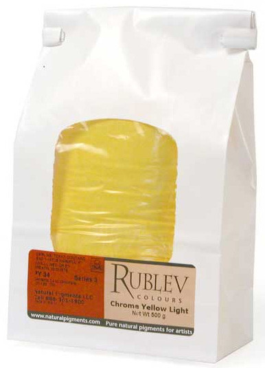 Rublev Colours Dry Pigments 100g - S3 Chrome Yellow Light