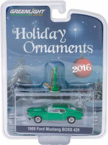 1:64 GreenLight 2016 4 of 6 Holiday Ornaments Series 1 - 1969 Ford Mustang BOSS 429