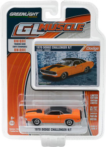 1:64 1970 Dodge Challenger R/T Orange with Black Stripe