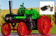 1:16 Case 175th Anniversary 65 HP Steam Engine Green and black version
