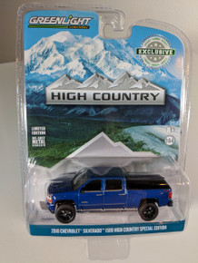 1:64 2018 Chevrolet Silverado 1500 Crew Cab High Country Special Edition - Deep Ocean Blue (Hobby Exclusive)