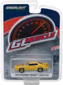 1:64 GreenLight Muscle Series 20 - 1970 Oldsmobile Cutlass Rallye 350 - Sebring Yellow
