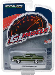 1:64 GreenLight Muscle Series 20 - 1976 Ford Gran Torino - Dark Green Metallic