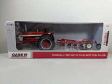 1:16 Farmall 560 Diesel Tractor with 5 Bottom Plow, Prestige Edition