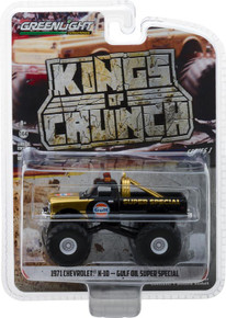 1:64 Kings of Crunch Series 1 - Gulf Oil Super Special - 1971 Chevrolet K-10 Monster Truck