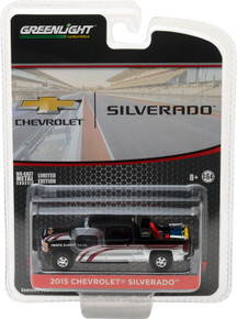 1:64 2015 Chevy Silverado in Black with Safety Equipment in Truck Bed (Hobby Exclusive)