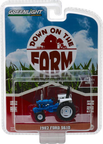 1:64 Down on the Farm Series 1 - 1982 Ford 5610 Tractor - Blue and Black