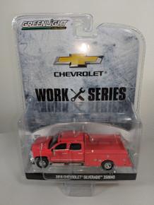 1:64 2018 Chevrolet Silverado 3500HD Dually 4X4 Red Hot Service Truck