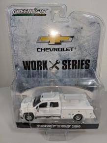 1:64 2018 Chevrolet Silverado 3500HD Dually 4X4 White Service Truck