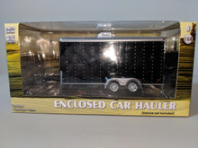 1:64 Black Enclosed Tandem Car Hauler