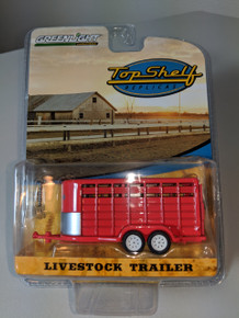 1:64 Livestock Tandem Trailer in Red