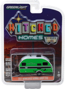 1:64 Hitched Homes Series 4 - 2017 Winnebago Winnie Drop 1710 - Green