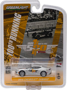 1:64 2016 Indianapolis 500 Pace Car - 2017 Chevrolet Camaro SS - 50th Anniversary Edition-White