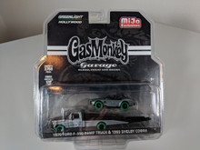 1:64 Gas Monkey Garage 1970 Ford F-350 Ramp Truck & 1965 Shelby Cobra M&J Exclusive Green Machine