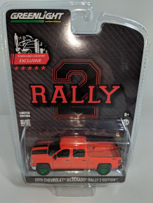 1:64 2015 Chevrolet Silverado Rally 2 edition, OEM, Green Machine
