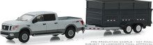 1:64 Hitch & Tow Series 16 - 2018 Nissan Titan XD Pro-4X and Double-Axle Dump Trailer