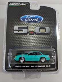 1:64 1988 Mustang 5.0 Coupe Foxbody Series 3 In Calypso Green, LBE Exclusive
