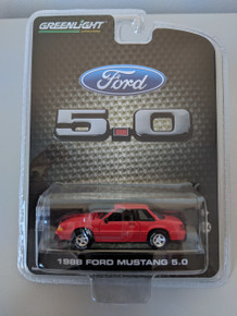 1:64 1988 Mustang 5.0 Coupe Series 3 In Bright Red