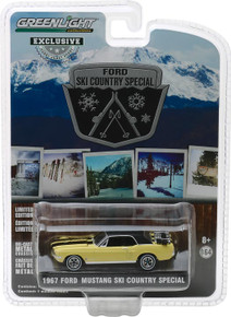 "1:64 1967 Ford Mustang Coupe ""Ski Country Special"" - Breckenridge Yellow (Hobby Exclusive)"