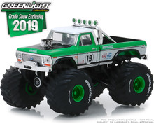 1:64 1974 Ford F-250 Monster Truck - #19 GreenLight Racing Team - 2019 GreenLight Trade Show Exclusive