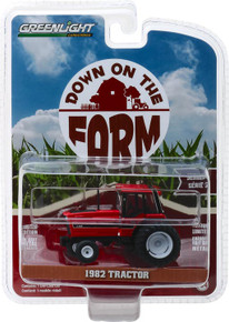 1:64 Down on the Farm Series 2 - 1982 Tractor - Red and Black with Dual Rear Wheels