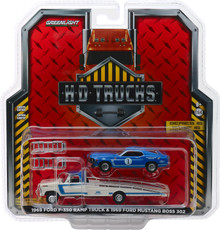 1:64 H.D. Trucks Series 15 - 1969 Ford F-350 Ramp Truck Ford Performance with 1969 Ford Mustang Boss 302 #1 Mustang Clubs Racing Team