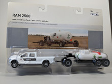 1/64 2011 Dodge Ram 2500 Farm Service Truck with two anhydrous ammonia tanks on carrier