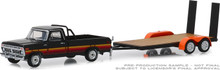 1:64 Hitch & Tow Series 17 - 1977 Ford F-100 and Free Wheeling Stripes & Flatbed Trailer
