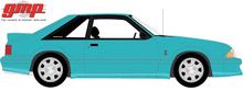 1:18 GMP 1993 Ford Mustang Cobra - Teal with Black Interior