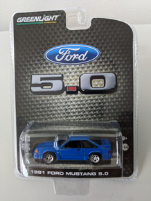 1991 Mustang GT 5.0 Foxbody FB in Candy Apple Blue Series 2, LBE Exclusive