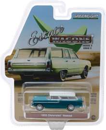 1:64 Estate Wagons Series 3 - 1955 Chevrolet Nomad - Regal Turquoise and India Ivory