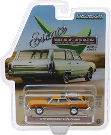 1:64 Estate Wagons Series 3 - 1970 Oldsmobile Vista Cruiser - Nugget Gold Poly and Wood Grain