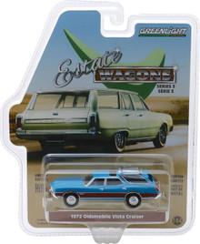 1:64 Estate Wagons Series 3 - 1972 Oldsmobile Vista Cruiser - Viking Blue and Wood Grain