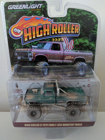 1:64 High Roller II Dusty Edition 1979 Ford F-350 Monster Truck Green Machine