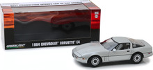 "1:18 1984 Chevrolet Corvette C4 - Silver Metallic - Vintage Ad Cars ""Best Production Sports Car in the World"""
