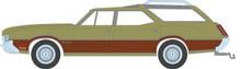 1:64 Estate Wagons Series 4 - 1971 Oldsmobile Vista Cruiser - Palm Green Metallic with Woodgrain