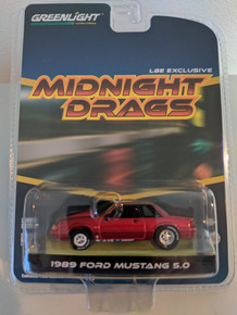 1:64 1989 Fox Body Drag Mustang 5.0 Coupe, Ruby Red, LBE Series 4