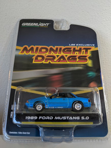 1:64 1989 Fox Body Drag Mustang 5.0 Coupe Electric Blue, LBE Series 4