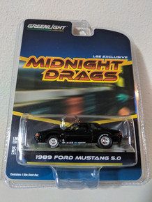 1:64 1989 Fox Body Drag Mustang 5.0 Coupe, Gloss Black LBE Series 4