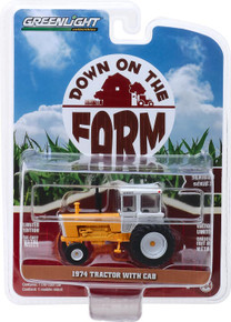1:64 Down on the Farm Series 3 - 1974 Tractor with Cab - Yellow and White