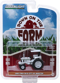 1:64 Down on the Farm Series 3 - 1985 Ford 5610 Tractor City of Houston, Texas - White and Black