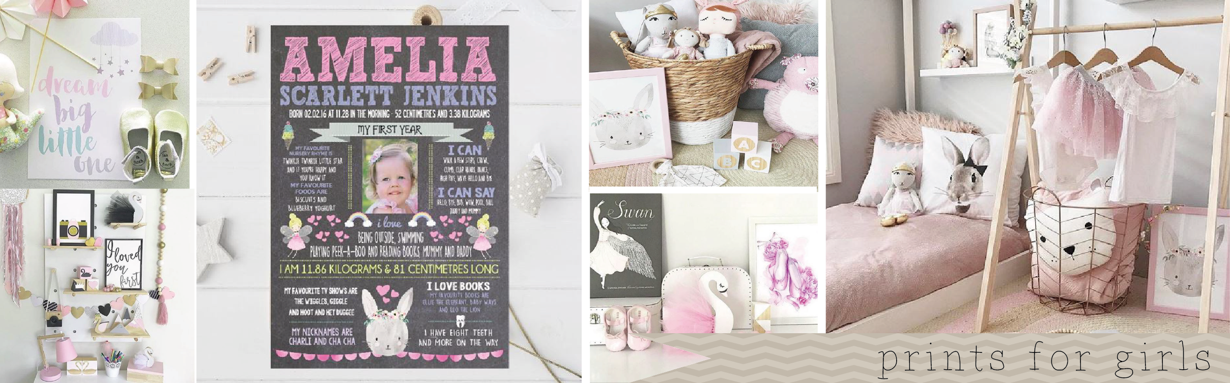 Girls Nursery and Bedroom Prints and Wall Art