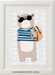 Hipster Bear Print